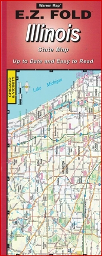 ILLINOIS STATE MAP EZ Fold