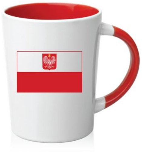 CERAMIC COFFEE CUP - Polish Flag